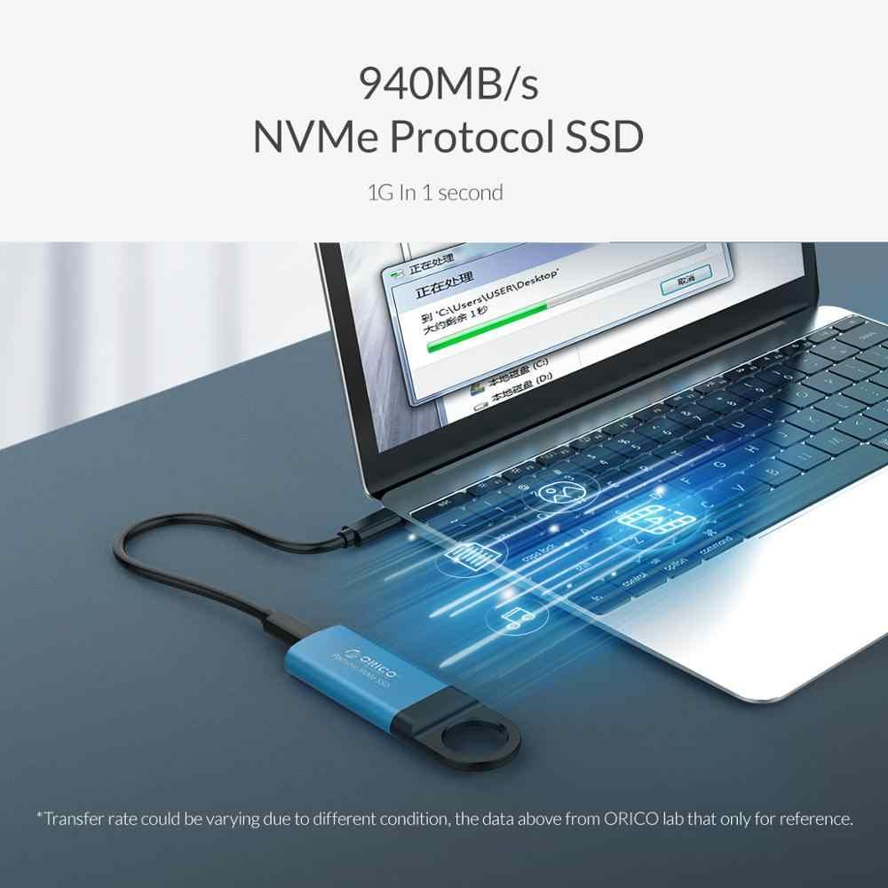 ORICO Mini Esterno SSD M2 NVME Hard Drive 1TB 128GB 256GB 512GB NVME Mobile Portatile SSD USB C 3.1 10Gbps Disco A Stato Solido