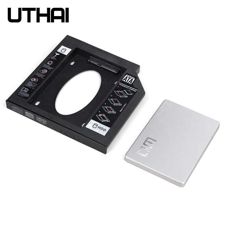 UTHAI T02 CD-ROM محرك وسيط تخزين ذو حالة ثابتة/ القرص الصلب العلبة الأجزاء الداخلية للكمبيوتر المحمول الضميمة 2.5 بوصة SATA I II III HDD محرك 9.5 مللي متر/8.9 مللي متر/9.0 مللي متر SATA3