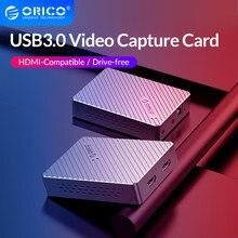 Orico Aluminium Usb 3.0 Video Capture Card 1080P Hdmi-Compatibel Video Grabber Opname Live Streaming Voor PS4 Dvd camera