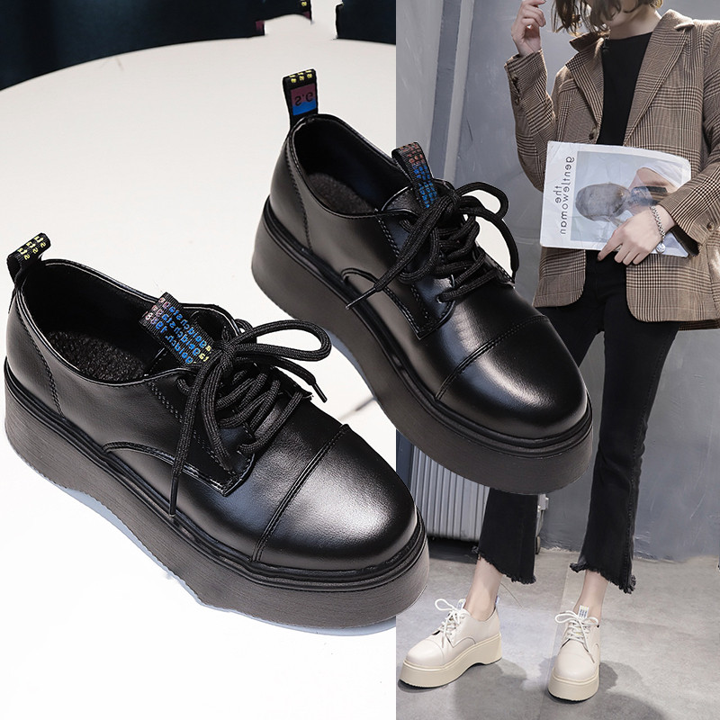 Fast Send women oxford Flat spring shoes for woman Casual Platform shoes Party flats wedding brogues vintage loafers Woman 2020 - 5