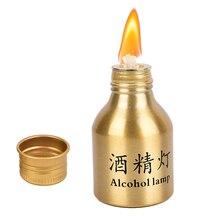 50 مللي يطاق سبائك الألومنيوم البحوث الطبية التدفئة الكيمياء مختبر معدات الكحول الموقد موقد مصباح مع الفتيل