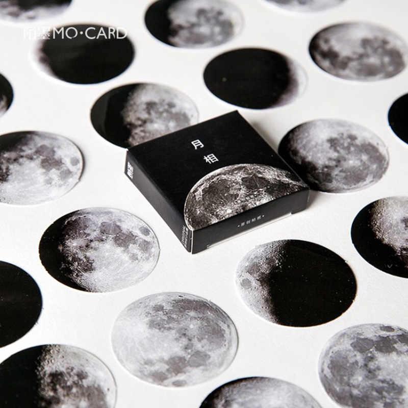 45 יח'\קופסא כהה ירח כוכב דקורטיבי מדבקות Diy יומן רעיונות תווית מדבקת מכתבים בית ספר אספקת מכתבים