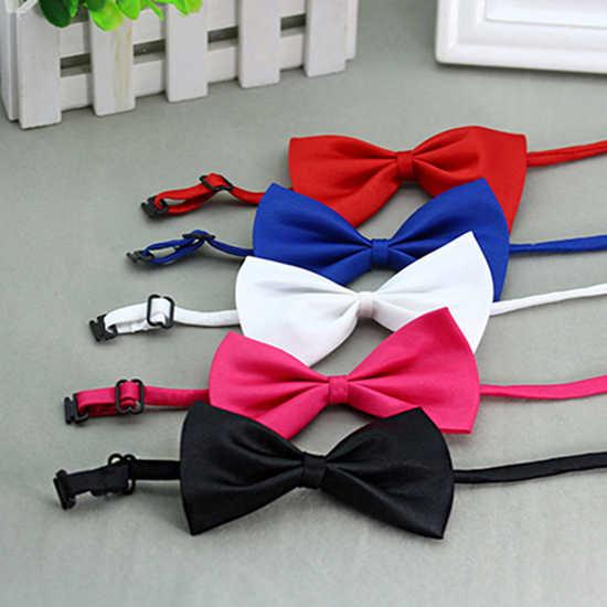 Lucu Warna Solid Disesuaikan Kucing Dasi Kupu-kupu Pet Anjing Kerah Ikatan Simpul Dasi Bow Tie