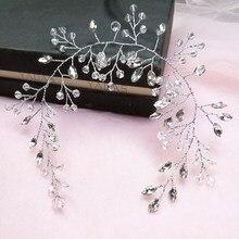 Venda del pelo de la novia blanco de cristal diadema de boda Accesorios nupciales para el cabello adornos para diadema boda diademas para peinetas para novia