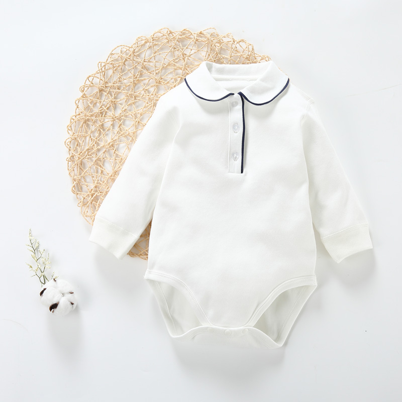 Baby Bodysuit Baby Boy Clothes Baby Girl Clothes Round Neck Opening Long Sleeves Baby Overalls Kids Clothes Bodysuit Pajamas