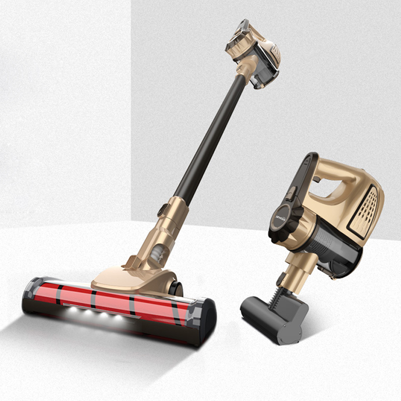 gold-TINTON LIFE VC812 Portable 2 In 1 Handheld Wireless Vacuum Cleaner