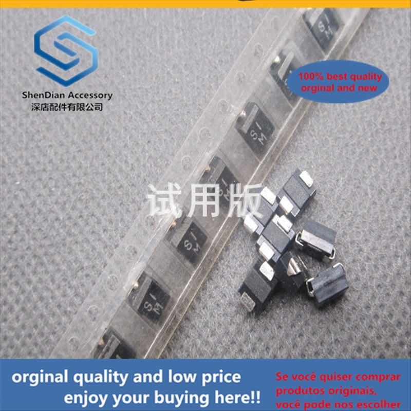 50pcs 100% Orginal New Best Quality SMD Rectifier Diode S1M SMB DO-214 Rectifier 1N4007 Spot 1A 1000V