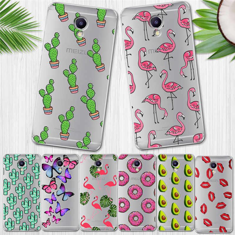 Flamingo de lujo para Meizu M3S M5 M5S M5C M6 M3 M5 M6 nota U10 U20 cubierta de la caja del teléfono de Coque Etui capa Funda de tapa Animal