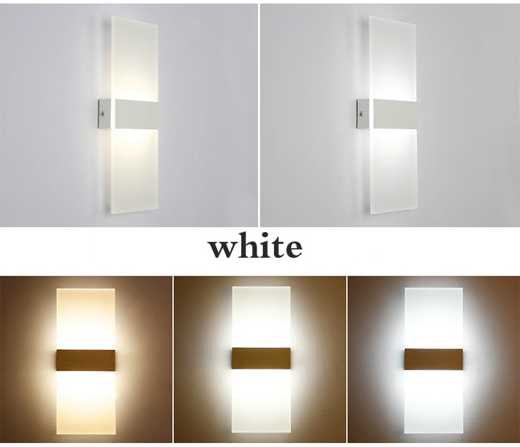 H45b7e093bc3d41ad83ced491fbbd4a52l - Mini 3/6/12/18W Led Acrylic Wall Lamp AC85-265V 14CM/22CM Long warm white Bedding Room Living Room Indoor wall lamp