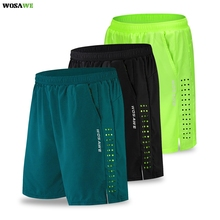 Cycling-Shorts Bike Bicycle Padded Riding-Trousers MTB WOSAWE Water-Resistant Reflective