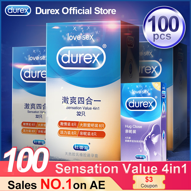 Durex Condom 4 Types Ultra Thin Cock Condom Intimate Goods Sex Products Natural Natural title=