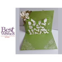 Pop Up Best Wishes Word Popular Letters Metal Cutting Dies Scrapbooking Album Paper DIY Cards Crafts Embossing New 2019