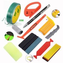FOSHIO Car Wrap Tools Set Rubber Squeegee Scraper Knifeless Tape Glass Window Sticker Film Tint Install Vinyl Wrapping Tools Kit