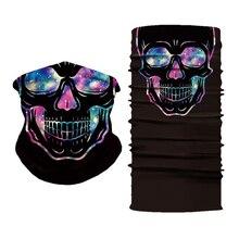 3D Custom Print Mask Bandana Face Shield Cycling Seamless Tubular Bandana Neck Gaiter Headband Buffs Skull Bandanas Headwear