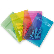 100Pcs Clear Plastic Zip Lock Tear Notch Recyclable Package Bags Zipper Candy Coffee Food Packaging Bags