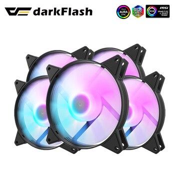 Darkflash-ventilador con ajuste RGB C6, 120mm, colorido, 4 pines, LED, PC, ordenador, ventilador con cubierta, CPU, radiador, argb, refrigeración silenciosa, 12cm