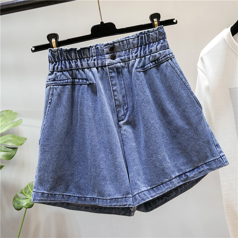 Shorts Jeans For Women   Loose Button    High Waist  Plus Size Summer Fashion Mom   Wide Leg Pants