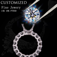 Customize Jewelry Service 1 10 Carat Moissanite Ruby Emerald Sapphire Diamond ring 18K 14K 10K 9K Engagement ring