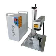 20W 30W raycus jewelry laser marking machine fiber for gold ring hot selling with rotary axis