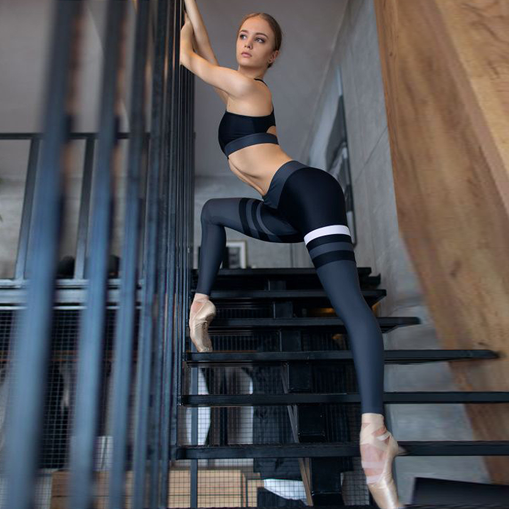 Ensemble de Gym pantalons serrés Leggings Sport femmes Fitness Yoga ensemble Gym Leggings entraînement Sport soutiens-gorge séchage rapide course vêtements de Sport