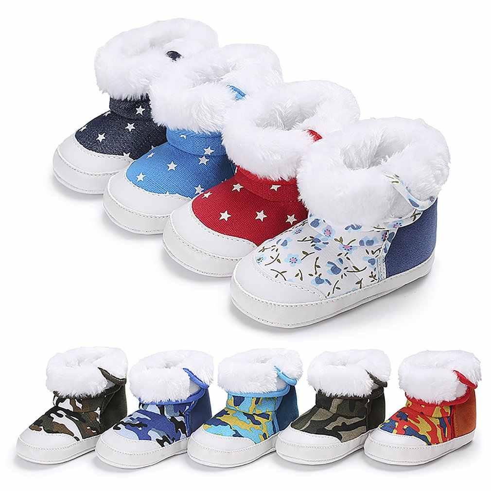 Modieuze Ontwerp Warm Houden Winter Baby Kind Stijl Katoen Boot Warme Snowboots Anti-Slip Laarzen Schoenen