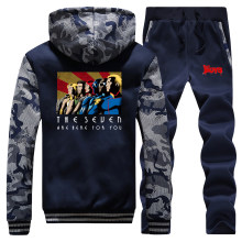 The Seven Homelander Sets TV Show The Boys Thick Set Warm Tracksuit Anti Hero Fashion Pants Sweatshirts The Boy Fleece Sweatsuit(China)