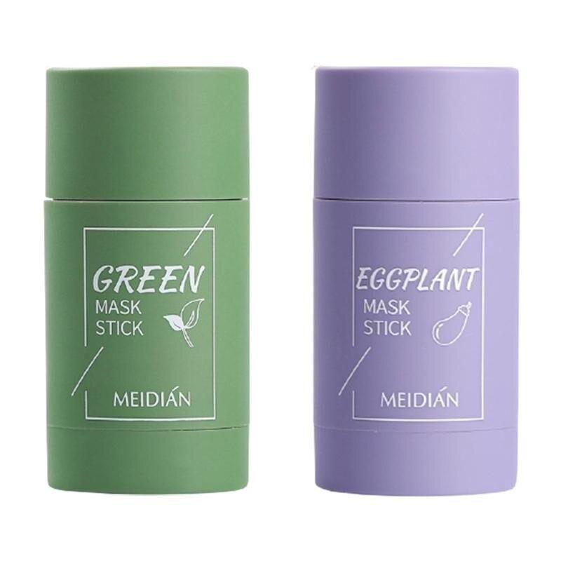 Зелёный чай Детокс палка глубокое очищение однотонный маски масло Управление поры Очищающая глина зеленая маска палка глубокое Отбеливани...