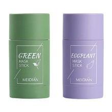 Chá verde desintoxicação vara de limpeza profunda máscara sólida controle de óleo clareamento profunda limpeza poros purificação argila máscara de chá verde vara