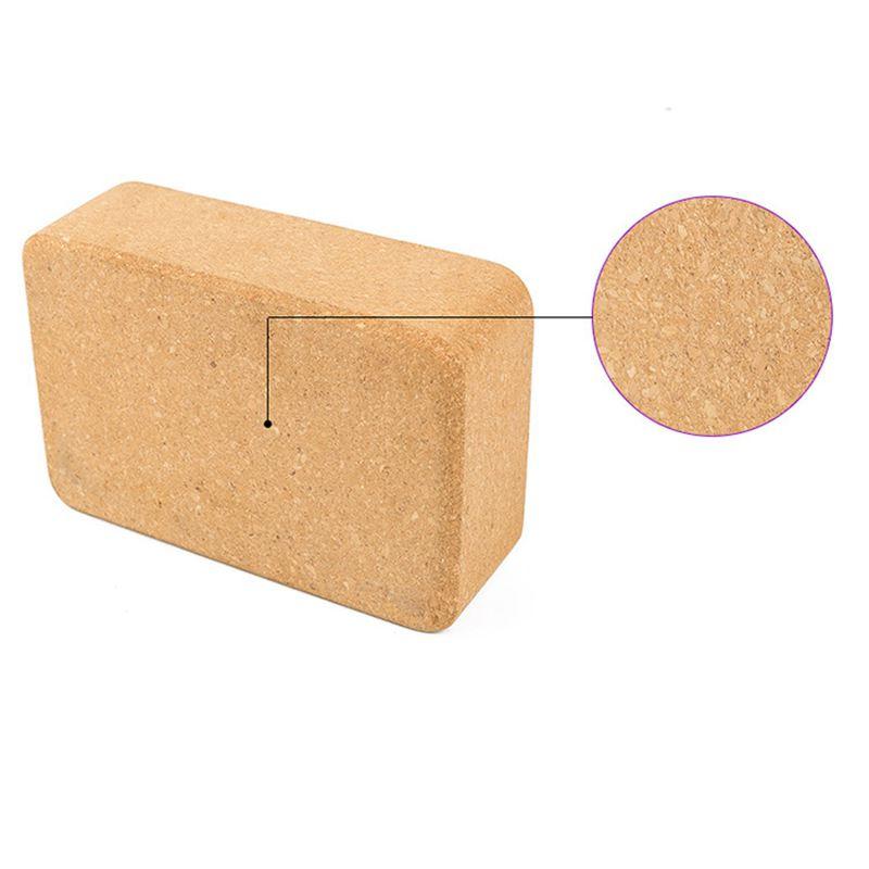 Cortiça bloco de yoga tijolo-natural, ambientalmente amigável,