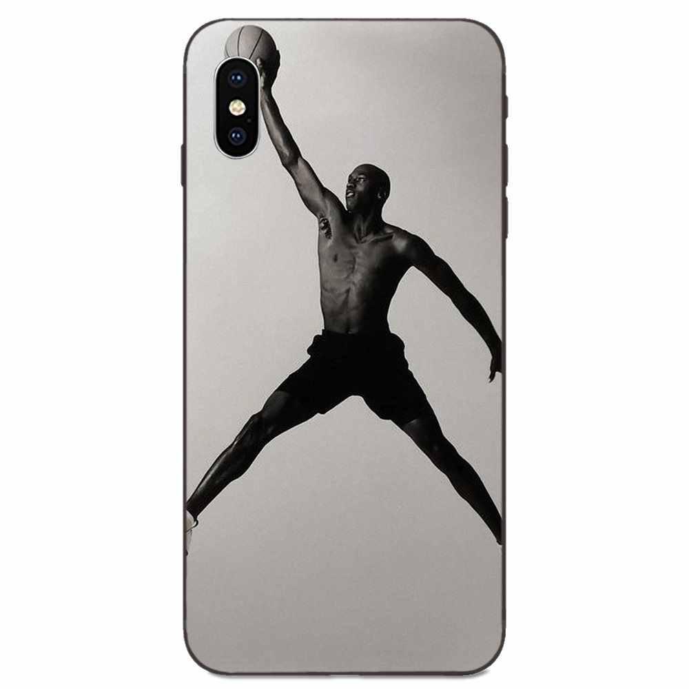 Caso Della Copertura nera Per Huawei Compagno di 9 10 20 P8 P9 P10 P20 P30 Lite Mini Gioco Pro P smart più Z 2017 2019 Sport Giocatore di Basket