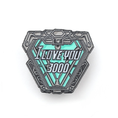Movie Anime Pins The Avengers Cosplay Iron Man Tony Stark Costumes Badge I Love You 3000 Metal Brooch Men Woman Accessories