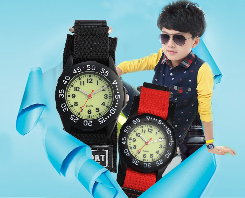 Pulseira de náilon relógios crianças menino relógio