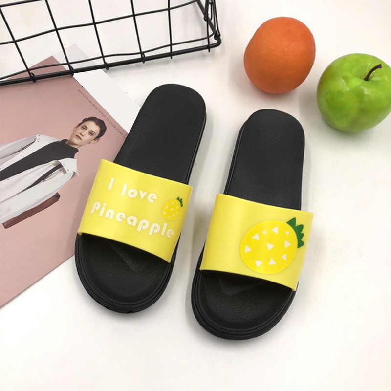 Женщины Летняя женщина Тапочки Мода Милые дамы Повседневный скольжению на Мармелад Бич Флип Женской Вьетнамки Слайды Крытый обувь 2020