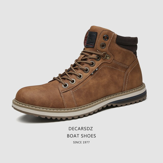 Man Shoes Casual Boots Men 2020 Autumn Fasihon Shoes Men Comfy Lace-Up Men Boots High Quality Leather Outdoor Hiking Men's Boots 2