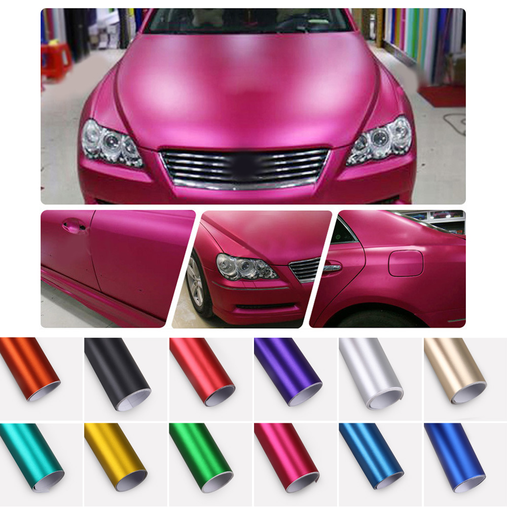 30x100cm Car Motorcycle PVC Vinyl Plating Matte Ice Body Car Foil Film PET UV Resistant Car Styling Universal