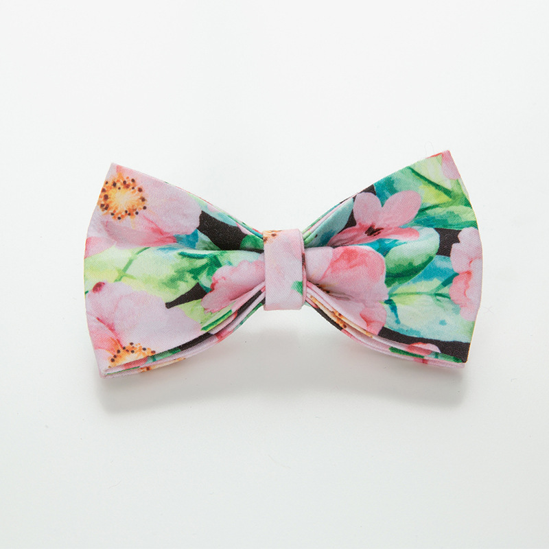 INS Flower Pet Collar Bow Dog Neck Ring Deconstructable Bow Bowtie Pet Tie