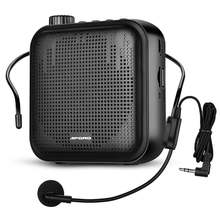 12w voice amplifier with waistband wired microphone fm radio
