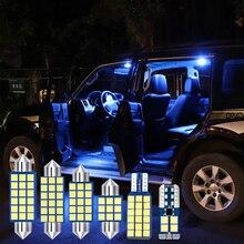 7pcs Error Free Car LED Bulbs Car Interior lights Kit Dome Light Reading Trunk Lamps For Toyota Corolla 2014 2015 2016 2017 2018 6x white canbus led car interior lights package kit for 2003 2016 2017 2018 2019 toyota corolla led interior dome trunk lights