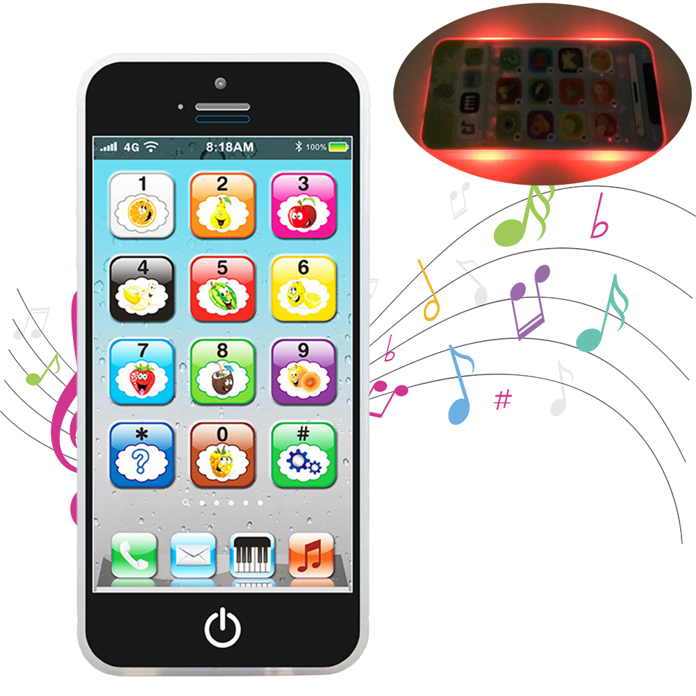 Educational Toys Cellphone With LED Baby Kid Educational Phone English Learning Mobile Phone Toy For Baby Kids