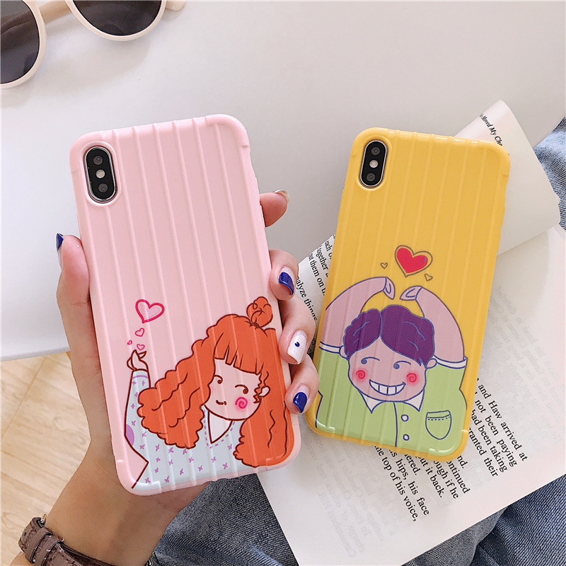 Macaron creative color mobile phone case for iPhone X XS XR XSmax 8 7 6 6S PluStpu soft shell drop protection cover