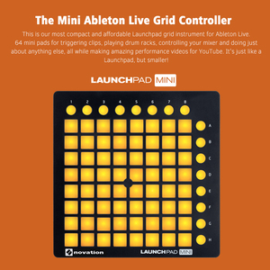 Image 2 - novation LAUNCHPAD MINI Ultra compact USB MIDI Drum Pad Controller for Ableton Live 64 Backlit Pads 16 Control Buttons