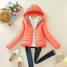 Women Ultra Light Down Jacket Hooded Winter Duck Down Jackets Women Slim Long Sleeve Parka Zipper Coats 2017 Pockets Solid Color стоимость