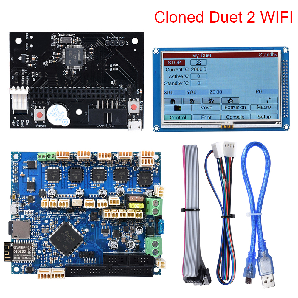 Cloned DuetWifi Duet 2 Wifi V1.04 Advanced 32bit Motherboard With 4.3