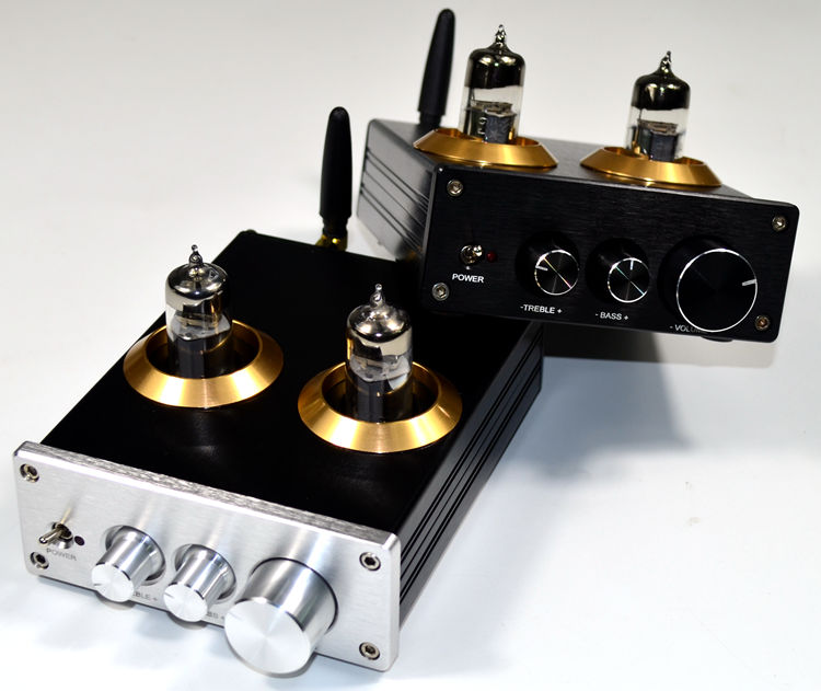 DC12V Bluetooth 4.2 6J5 Tube Tone Preamp With Treble And Bass Adjustment