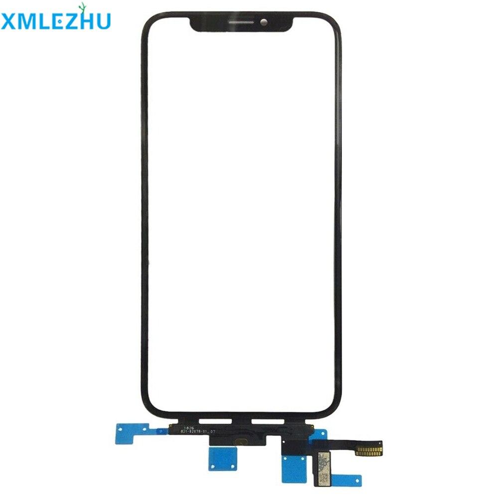 10 pièces d'origine qualité LCD écran tactile avant panneau de verre extérieur avec câble flexible pour iPhone X XS Max pièces de rechange