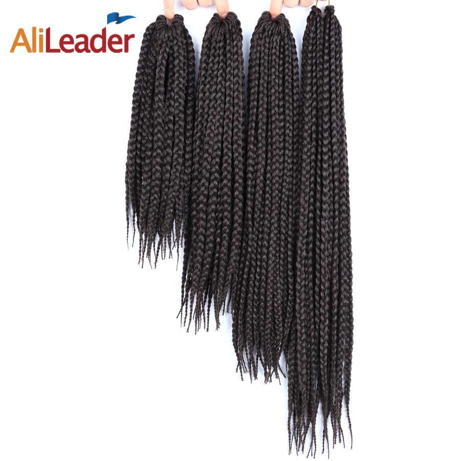 """Alieader 12 """"16"""" 20 """"24"""" Lange Doos Vlechten Hair Extension Soft Synthetisch Gehaakte Braid Kleurrijke Haak haar 22 Strand/Pcs"""