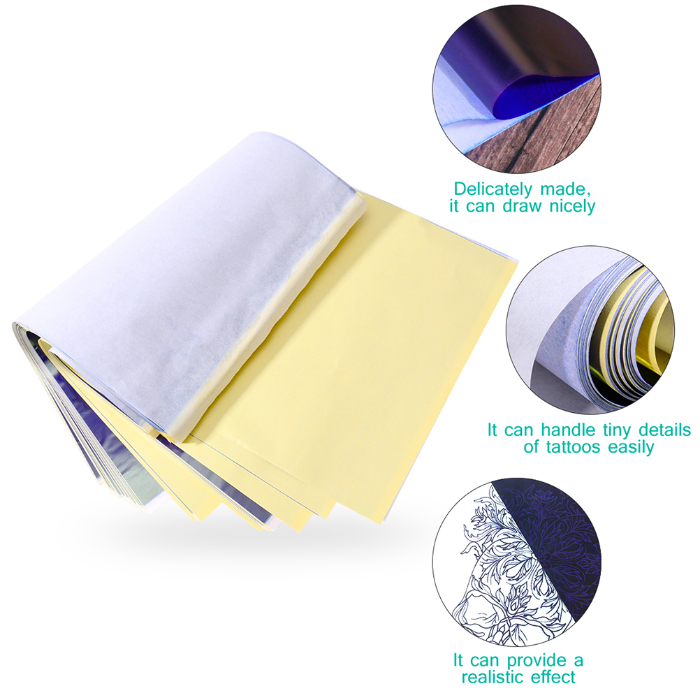 60PCS A4 Size Tattoo Transfer Paper Portable Tattoo Tracing Paper Practical Tattoo Supplies Heat Transfer Paper Transfer Paper