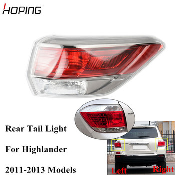 Hoping Auto Rear Tail Light Tail Lamp For TOYOTA HIGHLANDER 2011 2012 2013 Rear Taillamp