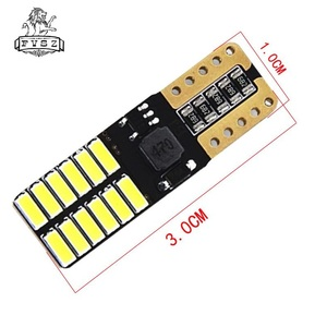 Image 3 - 100pcs T10 LED W5W 12V From 4014 Canbus Car Lamp 24 SMD 6500K Great Seller Light Emitting Diodes Independent Bulb Produto