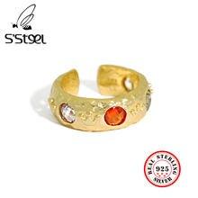 S'steel циркон кольца 925 пробы серебро подарок для женщин